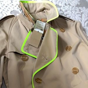 BURBERRY long trench coat neon CRANLEIGH mens